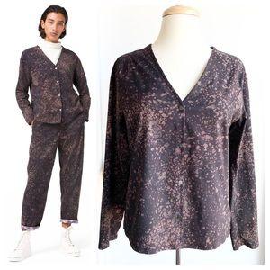 Lululemon Lab Azal long sleeve blouse top